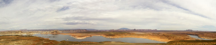 Panorama of Lake Powell National Recreation Area Stock Image
