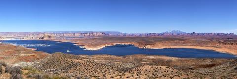 Panorama of Lake powell near Page, Arizona Royalty Free Stock Photo