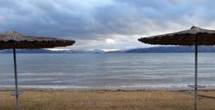 Panorama of Lake Prespa, Macedoni Royalty Free Stock Photography