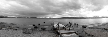 Panorama , Lake Prespa, Macedonia Royalty Free Stock Images