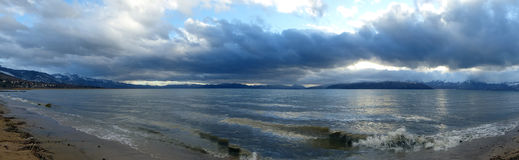 Panorama of Lake Prespa, Macedonia Royalty Free Stock Image