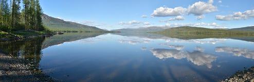 Panorama. Lake in the Putorana plateau. Stock Photos