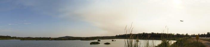Panorama of Lake at Sepang Royalty Free Stock Photos