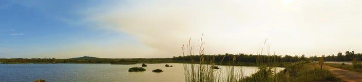 Panorama of Lake at Sepang Royalty Free Stock Image