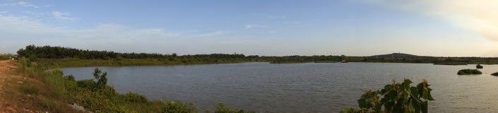 Panorama of Lake at Sepang Stock Photography