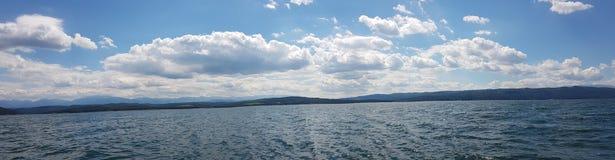 Panorama of a lake in Sofia stock photo