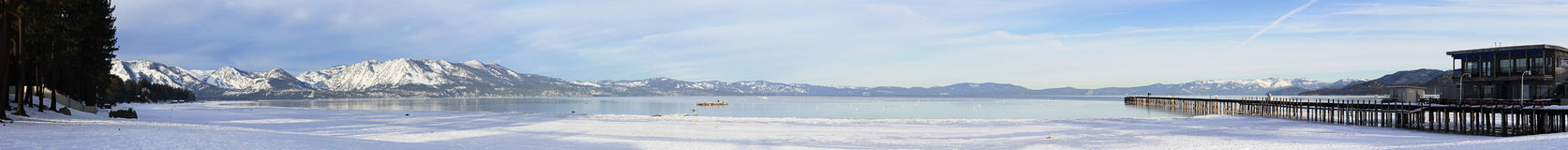 Panorama Lake Tahoe with mountains Royalty Free Stock Image