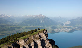 Panorama of Lake Thun Stock Photos