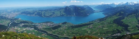 Panorama Lake Thun, Switzerland Stock Photos