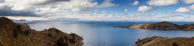 Panorama of Lake Titicaca Royalty Free Stock Images