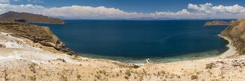Panorama of Lake Titicaca Royalty Free Stock Photo