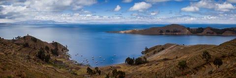 Panorama of Lake Titicaca Royalty Free Stock Photos