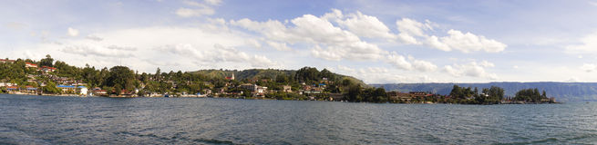 Panorama of Lake toba or danau toba Stock Image