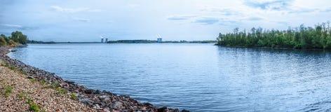 Panorama of Lake Udomlya Royalty Free Stock Images