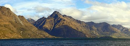 Panorama Lake Wakatipu Queenstown New Zealand Royalty Free Stock Image