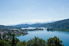 Panorama of Lake Woerther Stock Image