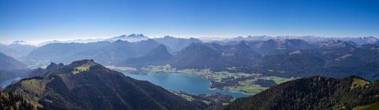 Panorama of Lake Wolfgang Stock Photo