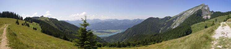 Panorama of Lake Wolfgangsee Royalty Free Stock Image