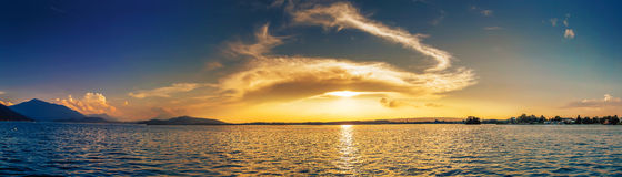 Panorama of Lake Zug Switzerland Royalty Free Stock Photography