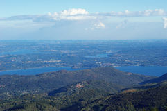 Panorama of Lakes and Northern Italy Royalty Free Stock Photography
