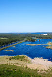 Panorama of lakes and woods of Karelia Royalty Free Stock Photos