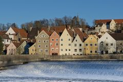 Panorama of Landsberg am Lech Stock Image