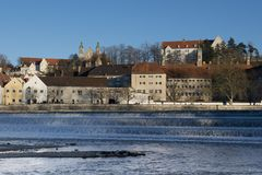 Panorama of Landsberg am Lech Stock Photos