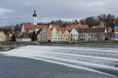 Panorama of Landsberg am Lech Royalty Free Stock Photo