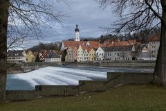 Panorama of Landsberg am Lech Stock Images