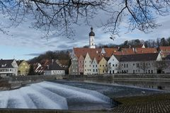 Panorama of Landsberg am Lech Royalty Free Stock Photos