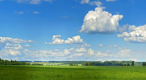 Panorama landscape. Summer panorama landscape with wonderful sky and clouds Stock Photography