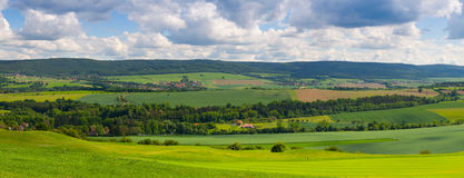 Panorama landscape - Amazing view from golf course Stock Photography