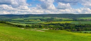 Panorama landscape - Amazing view from golf course Stock Image