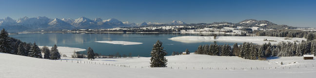 Panorama landscape in bavaria Stock Photography