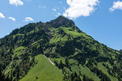 Panorama landscape in Bavaria with alps mountains and meadow at spring. Landscape in Bavaria with alps mountains and meadow at spring Stock Photography