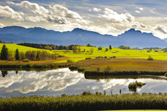 Panorama landscape in Bavaria Stock Photo