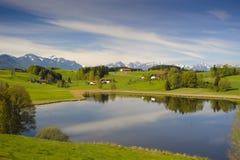Panorama landscape in Bavaria Stock Photos