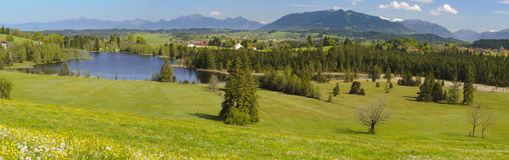 Panorama landscape in Bavaria Stock Photos