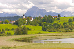 Panorama landscape in Bavaria Royalty Free Stock Image