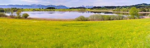 Panorama landscape in Bavaria Royalty Free Stock Image