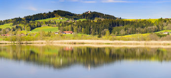 Panorama landscape in Bavaria with mountains and lake Royalty Free Stock Photos