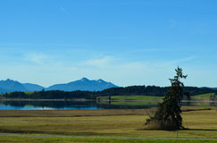 Panorama landscape in Bavaria Royalty Free Stock Photo
