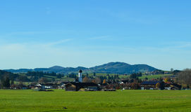 Panorama landscape in Bavaria Stock Image