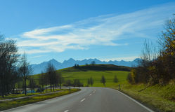 Panorama landscape in Bavaria Royalty Free Stock Images