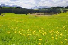 Panorama landscape in Bavaria with scene Stock Photo