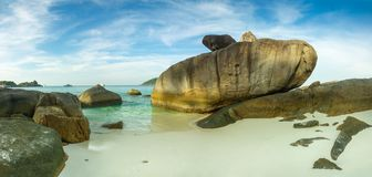 Panorama of Similan islands at sunset Stock Photo