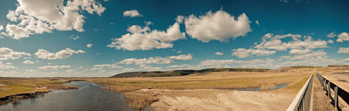Panorama a landscape at the bridg Royalty Free Stock Photo