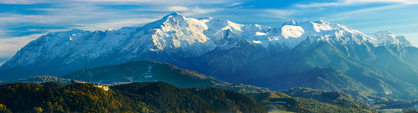 Panorama landscape with bucegi mountains Stock Image