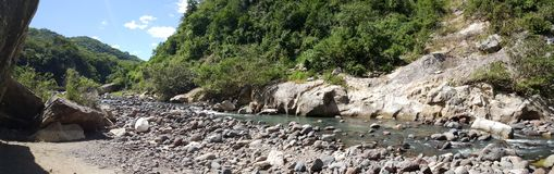 Panorama landscape from the Cañón de Somoto. With a river and rocks in Nicaragua Stock Images