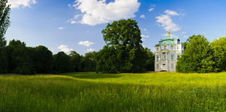 Panorama landscape charlottenburg garden royalty free stock photo